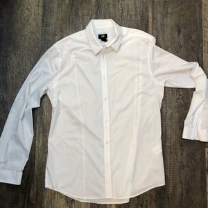 White H&M Dress Shirt - Slim Fit - Sz L